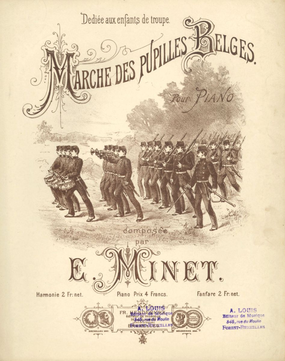 Marche des pupilles belges, by Eugène Minet, edited in Brussels. BV-10-5382.