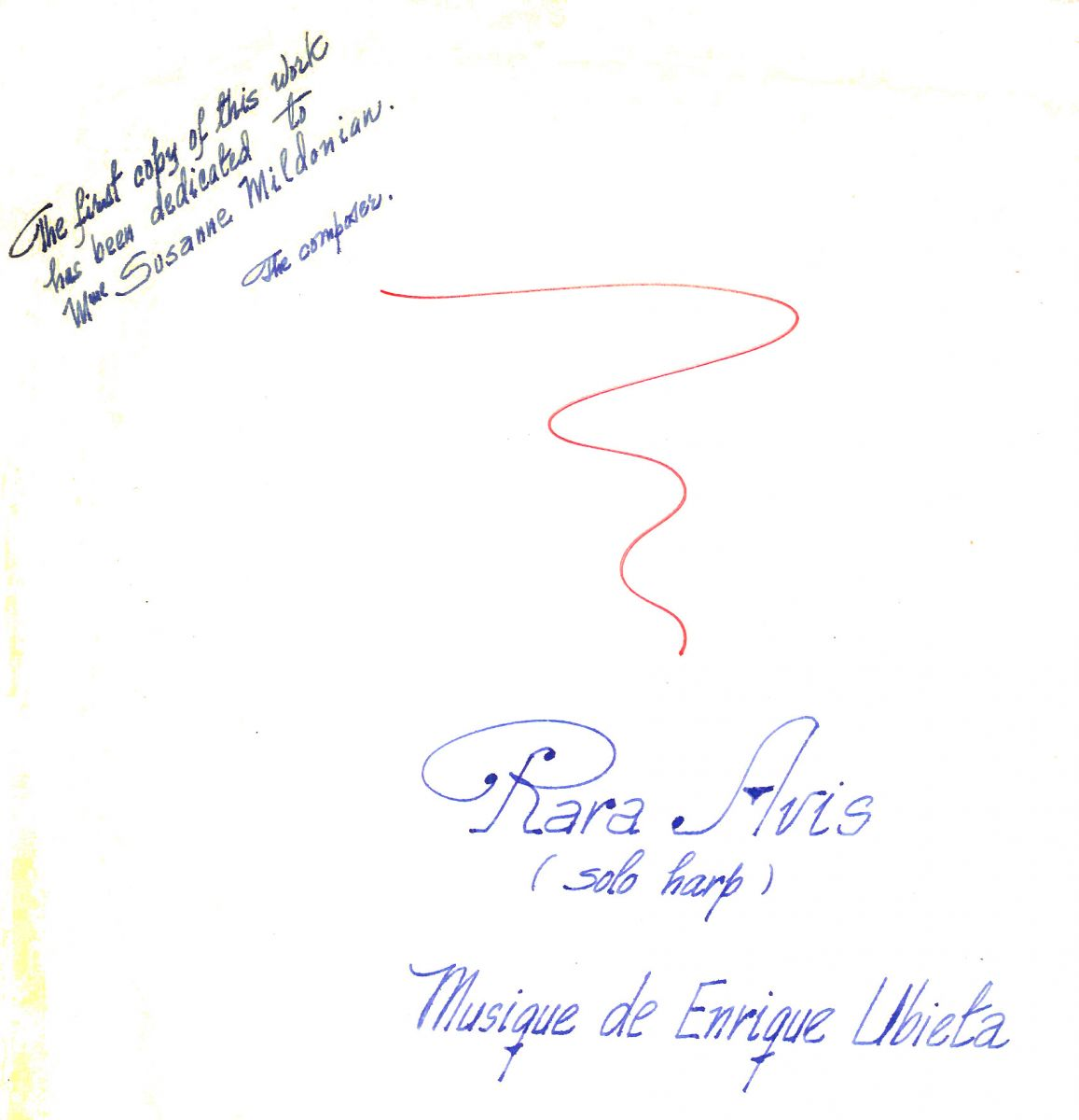 Autograph dedication by Enrique Ubieta, New York, 1975. BV-09-0066.
