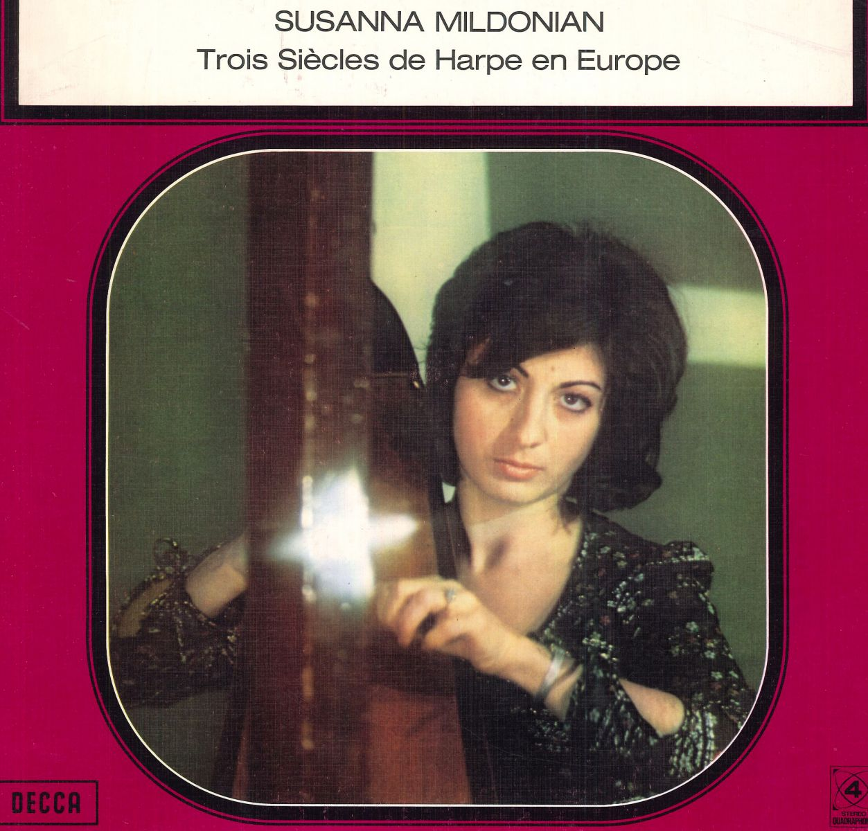 Cover fragment of the LP recording by Mildonian, label Decca.
